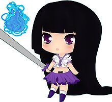 Chibi Samurai Schoolgirl by LiliuMurasaki