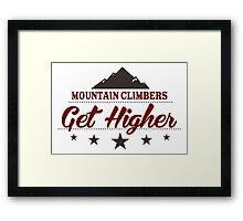 Mountain Climbers Get Higher Framed Print