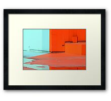 Paint and water reflection  Framed Print