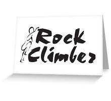 Rock Climber Greeting Card