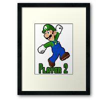 Luigi Player Two Framed Print