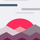 Abstract minimalistic landscape sunset by Lautstarke
