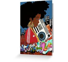 Old School Afro Greeting Card