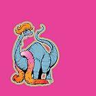 Brontina drag queen brontosaur - LGBT Dinos! by wolfehanson