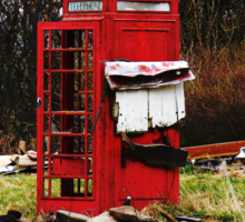 The Red Telephone Box in the Woods Sticker