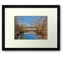 Westport Covered Bridge Framed Print