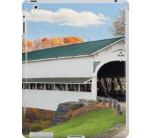 Covered Bridge at Westport iPad Case/Skin