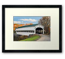 Covered Bridge at Westport Framed Print