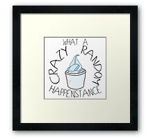 """Crazy Random Happenstance"" Dr Horrible Framed Print"