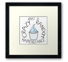 """""""Crazy Random Happenstance"""" Dr Horrible Framed Print"""