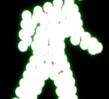 Crossing Man, Green by frecklefacedme
