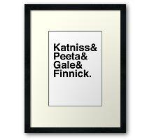 Katniss & Peeta & Gale & Finnick. Framed Print
