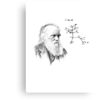 Darwin's thought.. Canvas Print