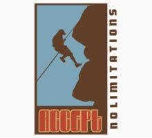 Rock Climbing Accept No Limitations by SportsT-Shirts