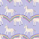 Unicorn Pattern on Pastel Purple by Tangerine-Tane