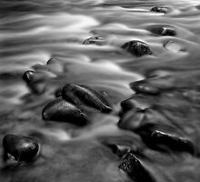 Rock and water, Franklin River by Kevin McGennan