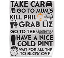 SHAUN OF THE DEAD THE PLAN Poster