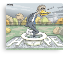 Lame Duck President Canvas Print