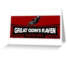Great Odin's Raven! Single Malt Scotch Greeting Card