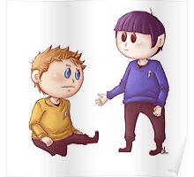 Kirk & Spock Poster