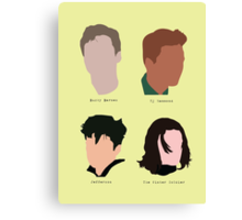 Four characters Canvas Print