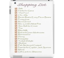 Geek Shopping List iPad Case/Skin