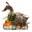Thanksgiving Indian Girl Duck by Gravityx9