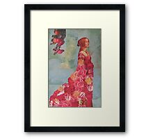 The Queen of  Roses Framed Print