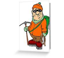 Cartoon Mountain Climber Greeting Card