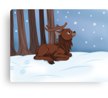 Winter Reindeer Canvas Print