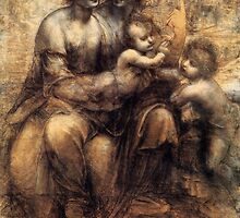 'Mary, Christ, St. Anne and the Infant St. John' by Leonardo Da Vinci by Legacy1Gallery