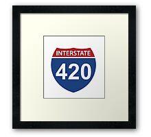 Interstate 420 Framed Print