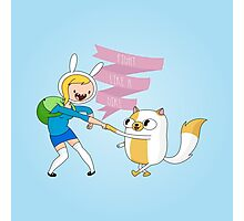 Fight Like a Girl: Fionna + Cake Photographic Print