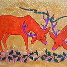 Christmas Deer by Susan Greenwood Lindsay