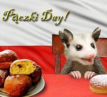 Paczki Day Opossum by jkartlife