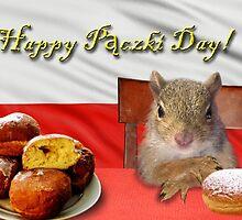 Paczki Day Squirrel by jkartlife