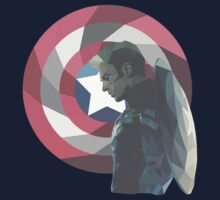 Geo Captain America by Katy Sykes