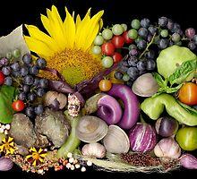 Dudley Farm Harvest Mosaic by Ellen Hoverkamp