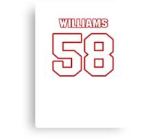 NFL Player D.J. Williams fiftyeight 58 Canvas Print