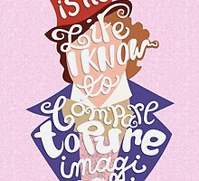 Willy Wonka And The Chocolate Factory Inspired Typography by abowersock