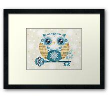 Winter Wonderland Owl Framed Print