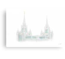 San Diego Temple in White 20x30 Canvas Print