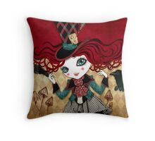 Mad Riddle Throw Pillow