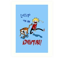 Adventure Time with Calvin and Hobbes Art Print