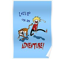 Adventure Time with Calvin and Hobbes Poster