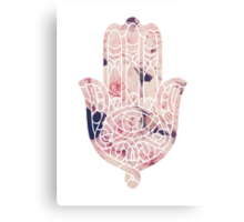 Pastel Rose Hamsa Canvas Print