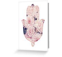 Pastel Rose Hamsa Greeting Card