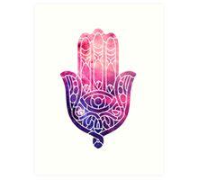 Pink and Purple Hamsa Art Print