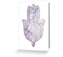 Pink Crystal Hamsa Greeting Card
