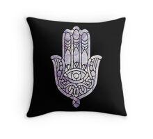 Pink Crystal Hamsa Throw Pillow